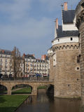 Castle of the Dukes of Brittany, Nantes, France. Royalty Free Stock Photos