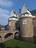 Castle of the Dukes of Brittany, Nantes, France. Urban stronghold built in the late Middle Ages by Duke Francis II and his daughter, Anne of Brittany Royalty Free Stock Photography