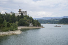 Castle on a Dunajec River Royalty Free Stock Photos
