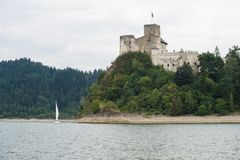 Castle on a Dunajec River Royalty Free Stock Images