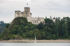 Castle on a Dunajec River Stock Photos