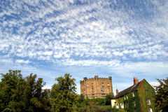 Castle in Durham (England). Castle in Durham and an English House (Northumberland; England Stock Images