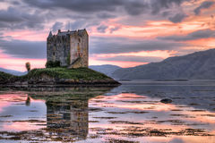 Castle at dusk Royalty Free Stock Photos