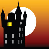 Castle at dusk vector Stock Image