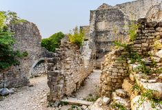 Castle Dvigrad in Istria, Croatia. Picturesque ruins stock photography