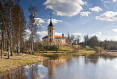 Castle in an early spring day Royalty Free Stock Photos
