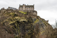 The Castle of Edinburgh. In Scotland Stock Image