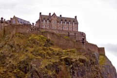 The Castle of Edinburgh. In Scotland Stock Images