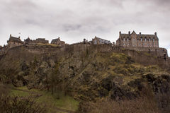 Castle of Edinburgh. The Northwestern side of the Castle of Edinburgh Royalty Free Stock Photos