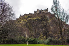 Castle of Edinburgh. The Northwestern side of the Castle of Edinburgh Royalty Free Stock Images
