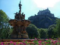 The castle of Edinburgh. In England at summer Stock Photos
