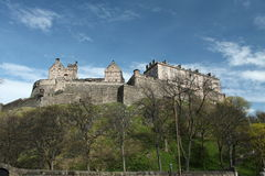 Castle in Edinburgh,Scotland. Ancient world famous castle in Edinburgh Scotland of great historic importance Stock Photos
