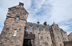 Castle of Edinburgh in Scotland UK stock photography