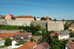 Castle of Eger, Hungary. The famous Castle of Eger, where 2000 Hungarians defended North Hungary against 80000 Turkish soldiers in 1552 stock photography