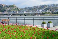 Castle Ehrenbreitstein  in Koblenz, Germany Royalty Free Stock Photography