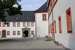 Courtyard of Castle Ehrenstein in Ohrdruf, Thuringia, Germany Stock Images