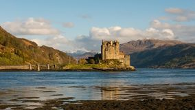 Castle Eilan Donan Scotland stock video footage