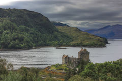Castle Eilean Donan, Σκωτία, UK Στοκ εικόνα με δικαίωμα ελεύθερης χρήσης