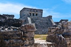 The Castle, El Castillo, Tulum) Stock Photo