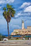 The castle of El Morro in Havana Royalty Free Stock Photos