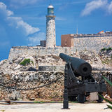 The castle of El Morro in Havana Royalty Free Stock Photography