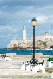 The castle of El Morro in Havana Stock Image