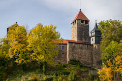 Castle Elgersburg in Thuringia Royalty Free Stock Images