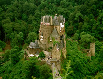 Castle Eltz, Germany. Castle in forest Royalty Free Stock Images