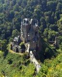 Castle Eltz in Germany. Sommer landscape. Castle Eltz in green forest in Germany. Burg Eltz in Rhineland mountains stock image