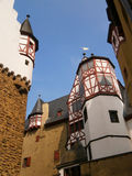 Castle Eltz in Germany. View to the towers from below Royalty Free Stock Photo