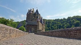 Castle Eltz - one of the most famous and beautiful castles in Germany, time lapse stock video