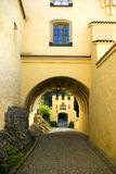 Castle entrance. The hohenschwangau castle in Bavaria, Germany stock image