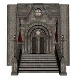 Castle entrance - 3D render Royalty Free Stock Image