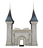 Castle entrance - 3D render Royalty Free Stock Photos
