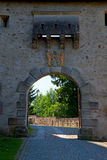 Castle entrance gate Stock Photos