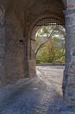 Castle entrance gate Stock Photography