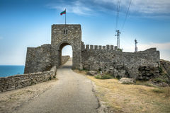Castle entrance on the Kaliakra peninsular in northern Bulgaria Stock Photography