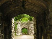 Castle entrance moat Royalty Free Stock Images