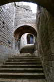 Castle entrance stairway Stock Image