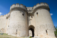 Castle Entrance of Villeneuve-les-Avignon Stock Photo