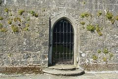 Castle Entrance. The entrance was often the weakest part in a circuit of defences. To overcome this, the gatehouse was developed, allowing those inside the Royalty Free Stock Images