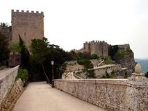 Castle in Erice. Near Trapani royalty free stock images