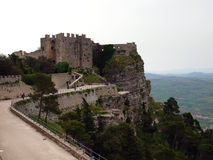 Castle in Erice. Near Trapani royalty free stock photography