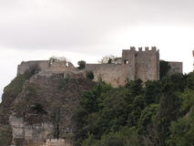 Castle in Erice. Norman Castle in Erice near Trapani stock photography
