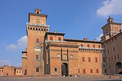 Castle Estense of Ferrara Royalty Free Stock Photos