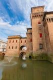 Castle Estense in Ferrara, Italy Royalty Free Stock Photos