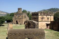 Castle in Ethiopia. The palace of Fasilidas in Gondar, in Ethiopia Royalty Free Stock Photo