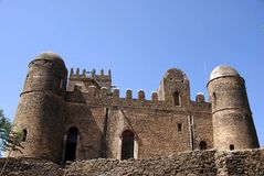 Castle in Ethiopia. The palace of Fasilidas in Gondar, in Ethiopia Stock Photos