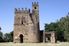 Castle in Ethiopia. The palace of Fasilidas in Gondar, in Ethiopia Stock Photography
