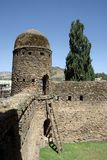 Castle in Ethiopia. The palace of Fasilidas in Gondar, in Ethiopia Royalty Free Stock Image